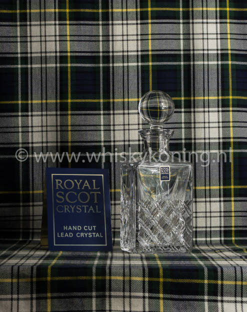 Scot Crystal Decanter Tartan Square